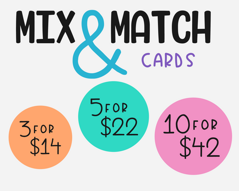 3, 5 or 10 Mix & Match Greeting Cards