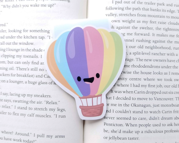 Hot Air Balloon Magnetic Bookmark