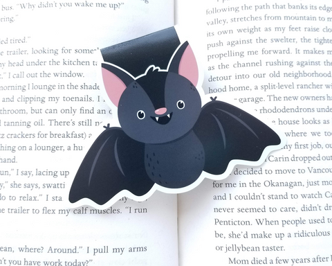 Bat Magnetic Bookmark Halloween
