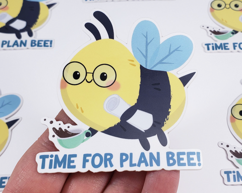 Bee Plan Sticker