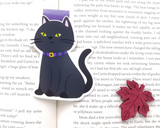 Black Cat Magnetic Bookmark
