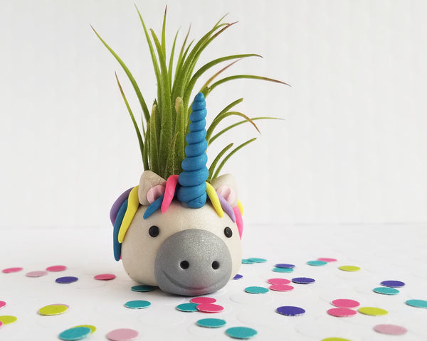 Unicorn Blue Airplant Holder