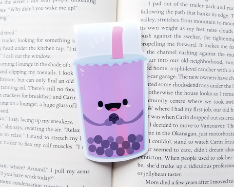 Boba Tea Magnetic Bookmark