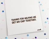 Chocolate Chip Thank You Card
