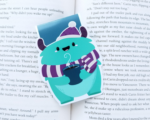 Coffee Monster Magnetic Bookmark