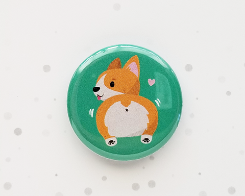 Corgi Butt Button or Magnet