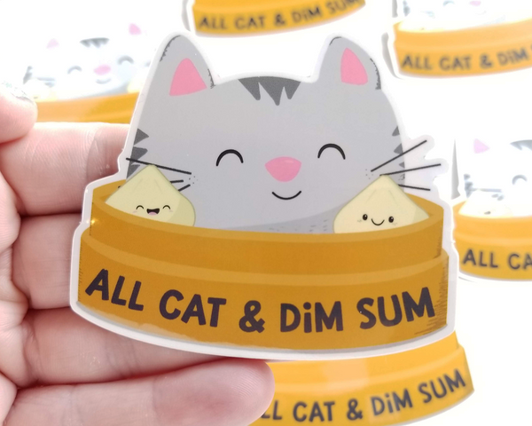 Cat Dim Sum Sticker