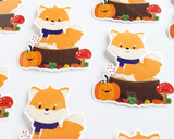 Fall Fox Scene Sticker