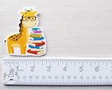 Giraffe with Books Magnetic Bookmark
