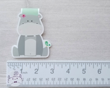 Hippo Magnetic Bookmark