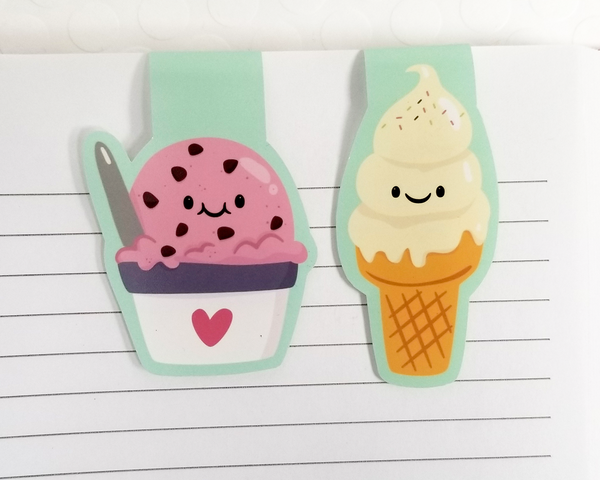 Ice Cream Cones Magnetic Bookmark Set