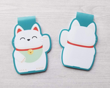 Japanese Lucky Cat Magnetic Bookmark