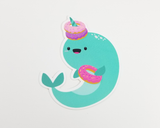 Narwhal Donut Sticker