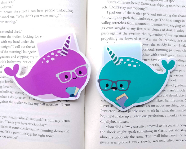 Nerdy Narwhals Magnetic Bookmark