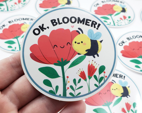 Bee Ok Bloomer Sticker