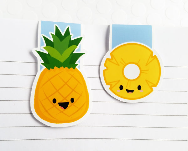 Pineapple and Ring Magnetic Bookmark Set