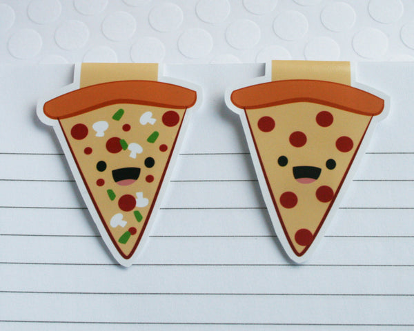 Pizza Slices Magnetic Bookmark Set