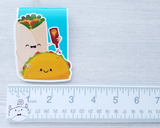 Taco and Burrito Magnetic Bookmark