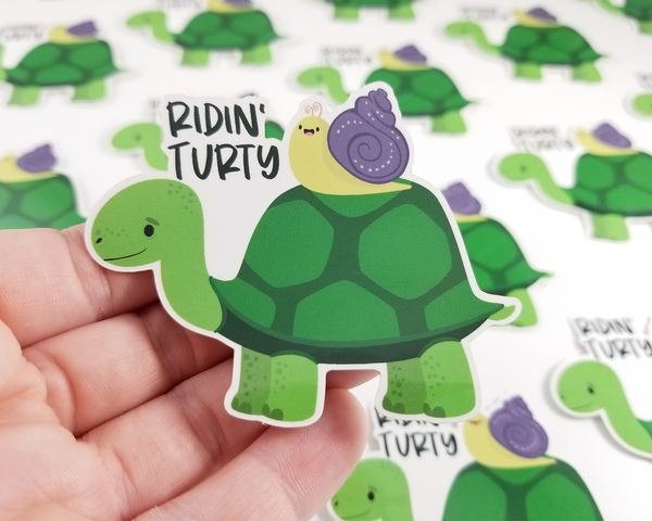 Ridin' Turty Sticker