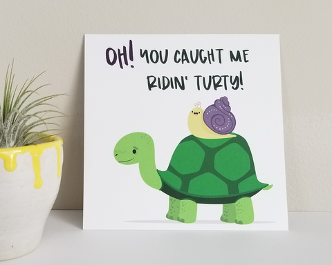 Ridin' Turty Art Print