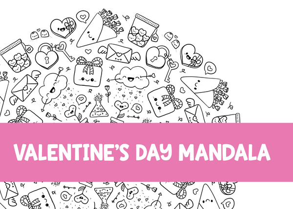 Valentine's Coloring Page