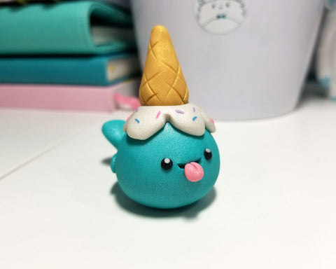 Ice Cream Narwhal Ring Holder