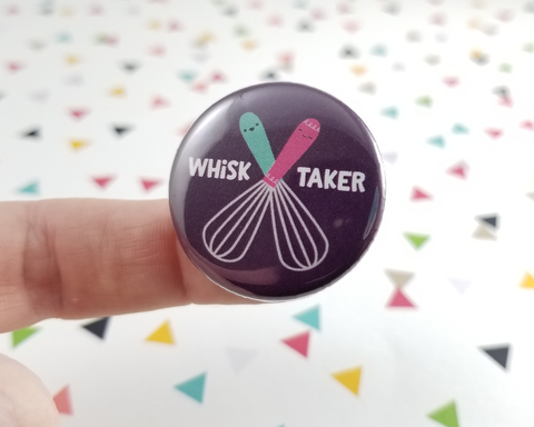 Whisk Taker Button or Magnet