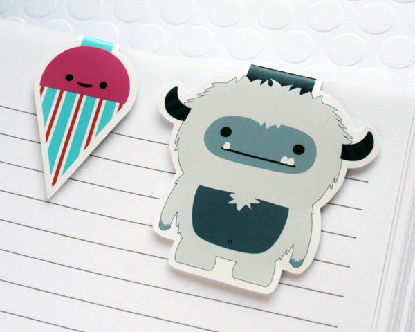 Yeti and Sno-Cone Magnetic Bookmark Set