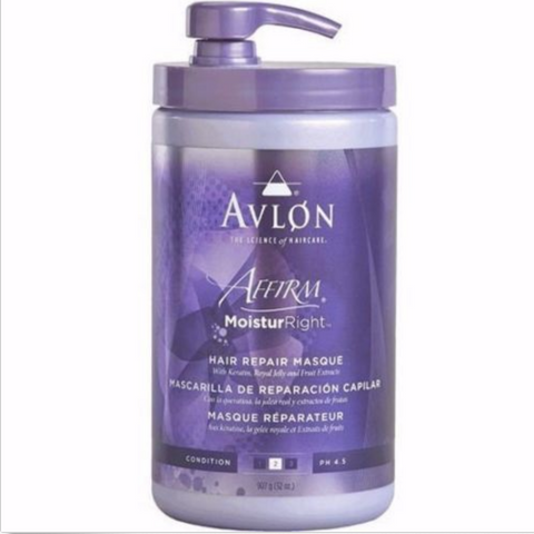 Avlon Affirm Moistur Right Hair Repair Masque - 32 oz