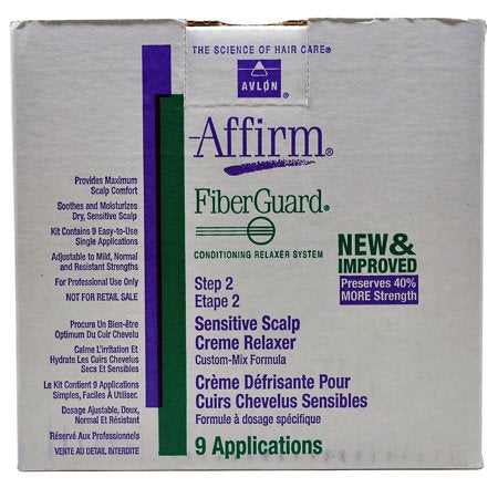 Avlon Affirm Fiberguard Relaxer 9 Single Applications