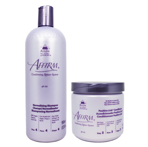 Avlon Affirm Positive Link Conditioner 16oz + Normalizing Shampoo 32oz