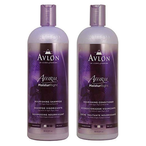Avlon Affirm Moistur Right Nourishing Shampoo + Conditioner 32oz