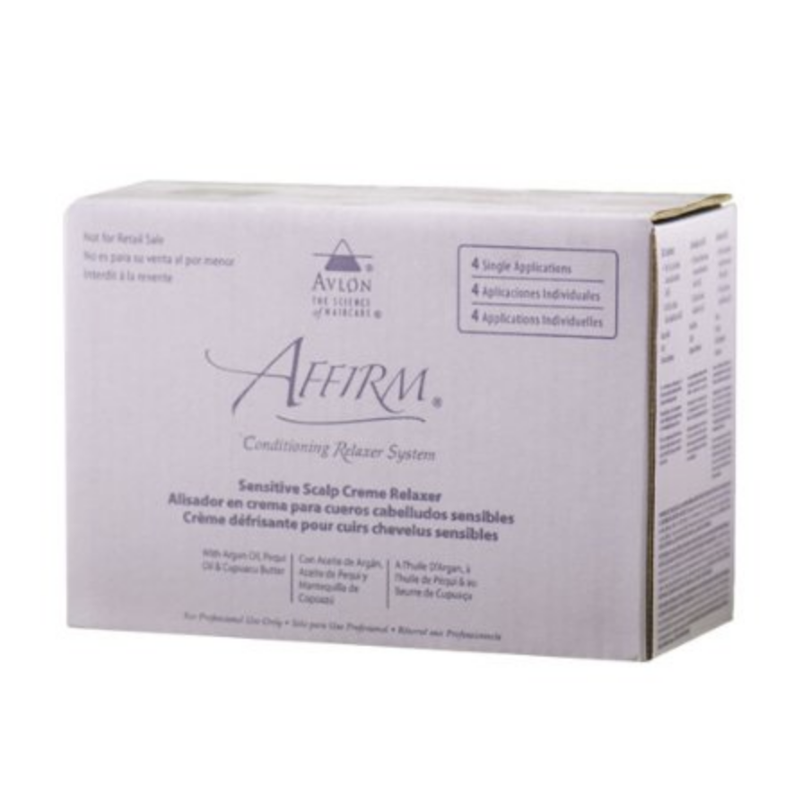 Avlon Affirm Sensitive Scalp Conditioning Relaxer 4 Single Applications