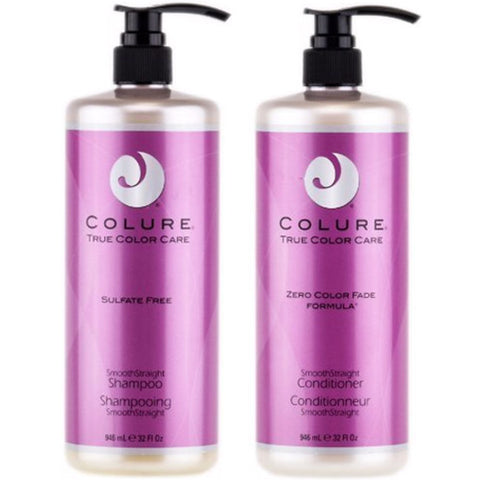 COLURE True Color Care Smooth Straight Sampoo & Conditioner 32oz SET