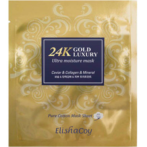 ELISHACOY 24K Gold Luxury Ultra Moisture Mask 23g x 10pcs