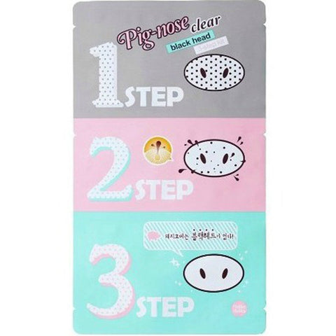 HOLIKA HOLIKA Pig-nose Clear Black Head 3 Step Kit, Select