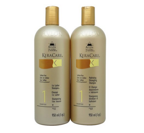 Keracare 1st Lather Shampoo + Hydrating Detangling Shampoo 950 ml / 1 qt. Duo