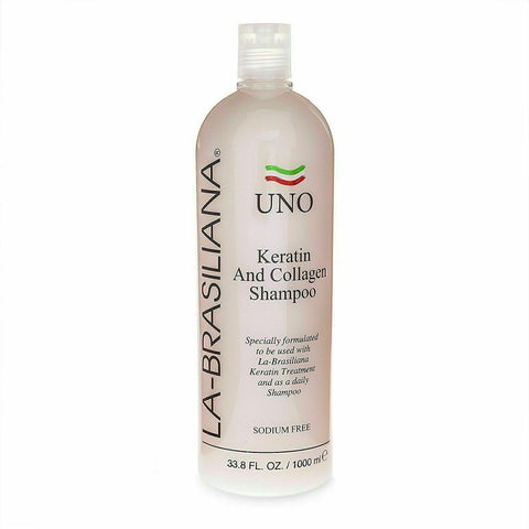 La-Brasiliana Uno Keratin and Collagen Shampoo, 33.8oz