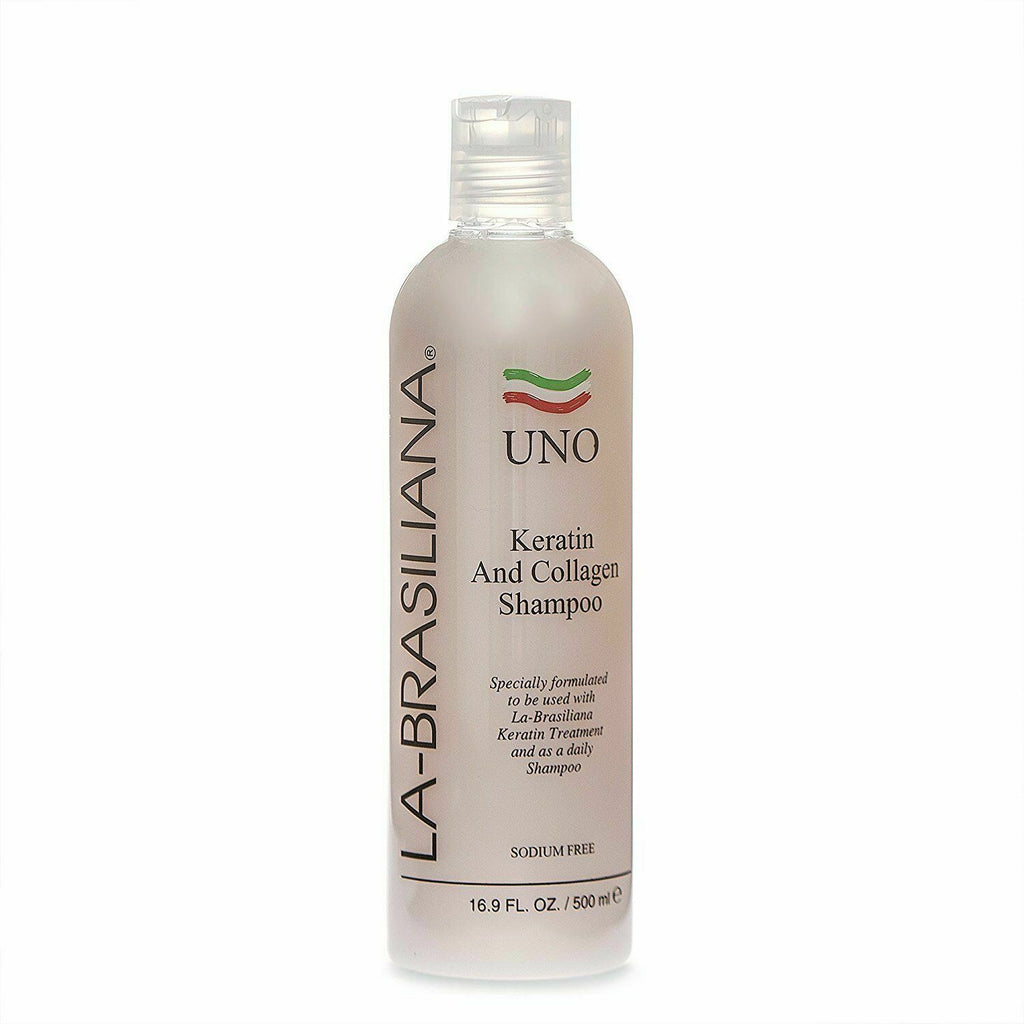 La-Brasiliana Uno Keratin and Collagen Shampoo, 16.9oz
