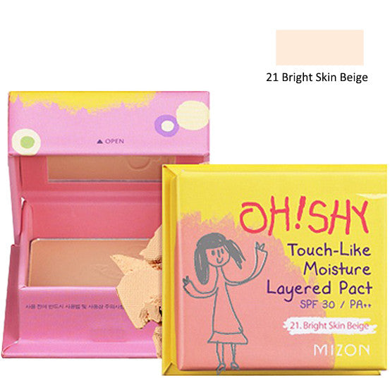 MIZON Oh! Shy Touch-Like Moisture Layered Pact [SPF 30/ PA++] 55g, Select