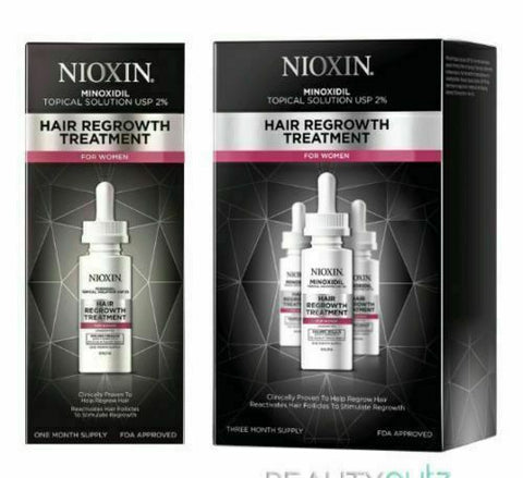 Nioxin Minoxidil 2% Hair Regrowth Treatment for Women (Select from 30 or 90 Day)