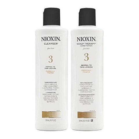 NIOXIN System 3 Cleanser 10.1 oz & Scalp Therapy 10.1 oz Duo Set