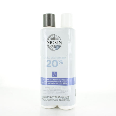 NIOXIN System 5 Cleanser 10.1 oz & Scalp Therapy 10.1 oz Duo Set
