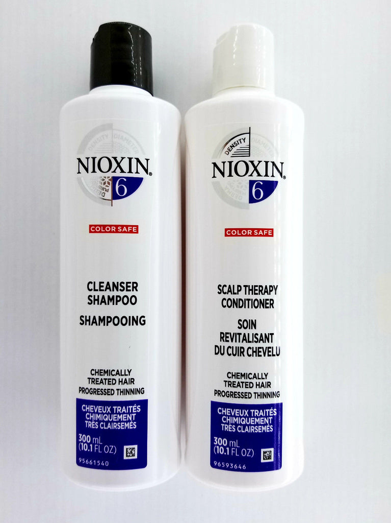 NIOXIN System 6 Cleanser 10.1 oz & Scalp Therapy 10.1 oz Duo Set