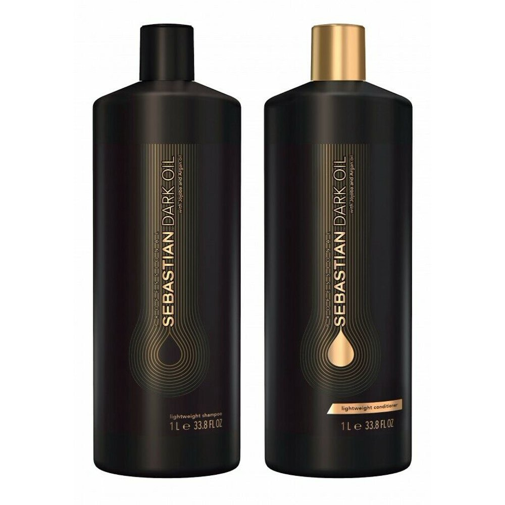 Sebastian Dark Oil Lightweight Shampoo & Conditioner 33.8 oz Liter DUO