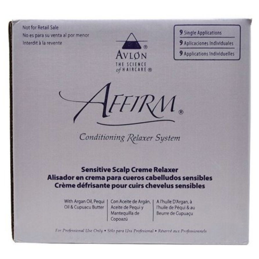 Avlon Affirm Sensitive Scalp Conditioning Relaxer 9 Single Applications