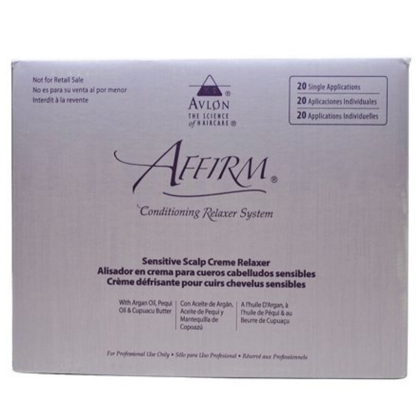 Avlon Affirm Sensitive Scalp Conditioning Relaxer 20 Single Applications