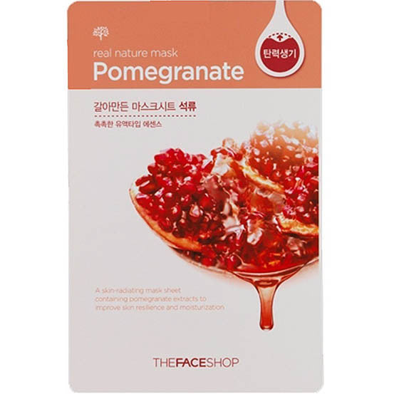 THE FACE SHOP Real Nature Mask Sheet Pomegranate 10pcs