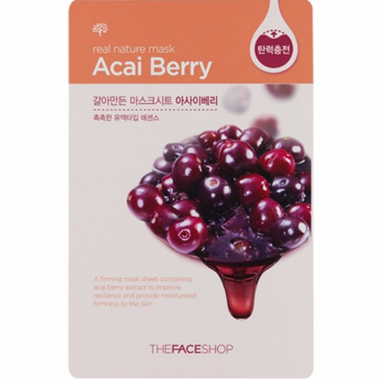 THE FACE SHOP Real Nature Mask Sheet Acai Berry 10pcs