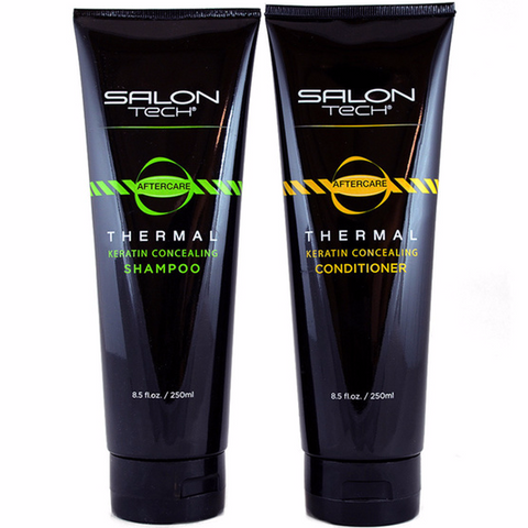 SALON TECH Keratin Shampoo 8.5oz & Conditioner 8.5oz Duo Set